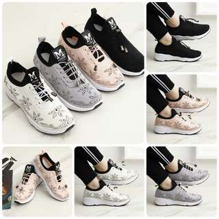 FREE ONGKIR Everest Fashion Sneaker with Swarovski #055*