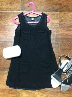 ZARA KIDS WOOL BLACK DRESS