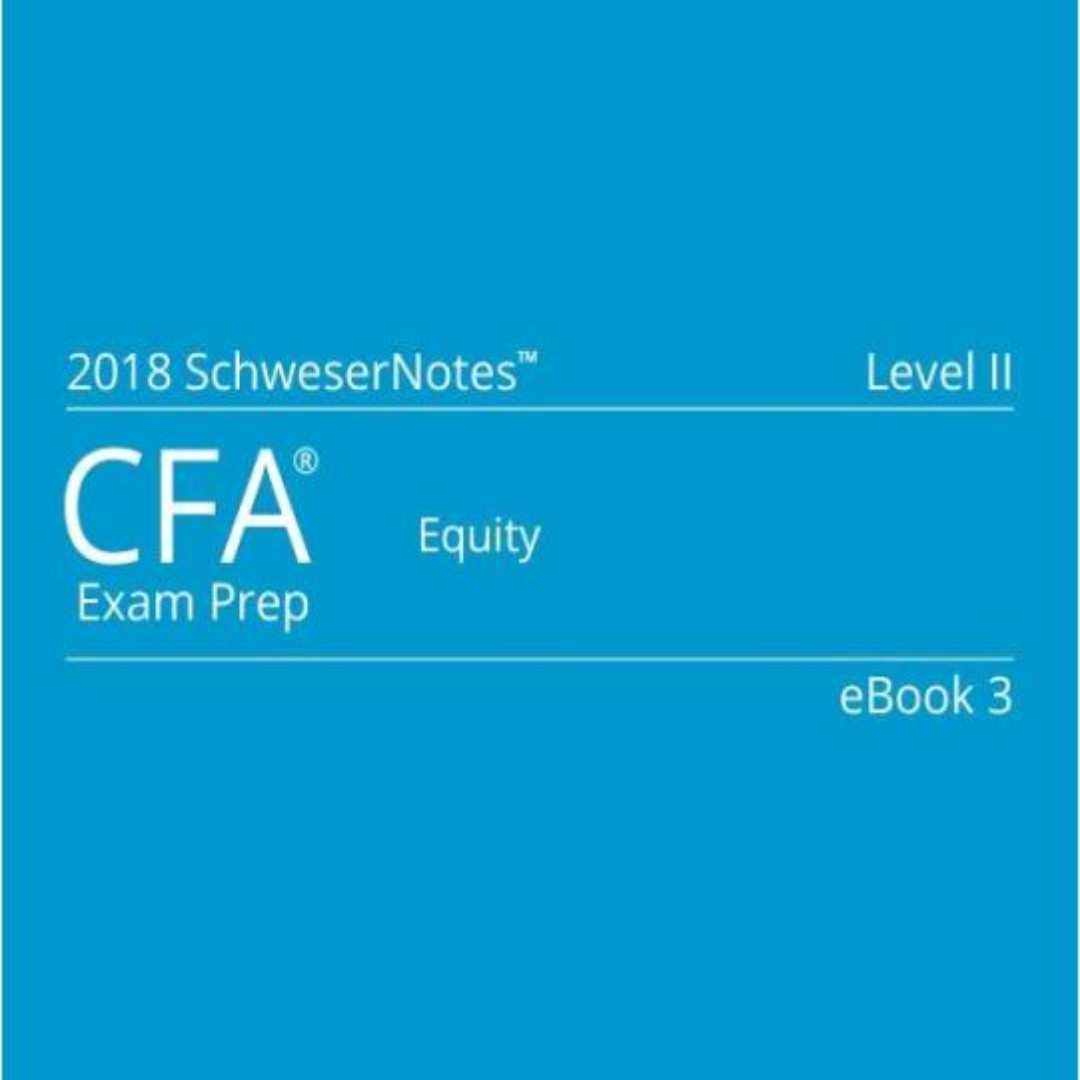 2018 CFA Level II SchweserNotes (PDF Version), Books