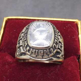 10K White Gold School Ring 2003