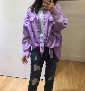 🚚 全新✨今年爆紅紫色刷破外套💓💓
