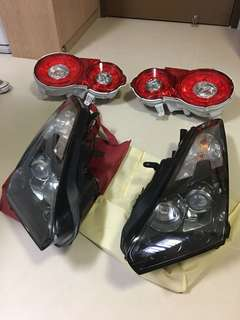 NISSAN SKYLINE R35 front rear lamps