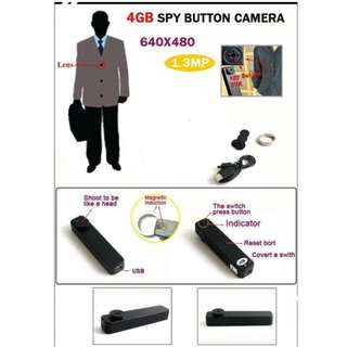 hy 900 1.3mp spy button camera 4gb