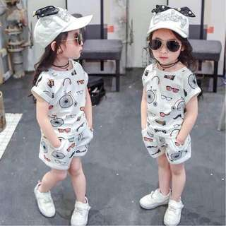 Kids Terno Top and Shorts 01 - COD