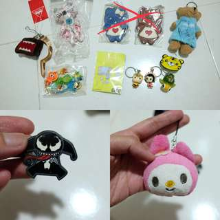 Cute keychains and badges, 5 for $4