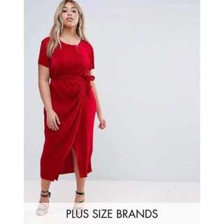 Plus Size Ribbon Dress