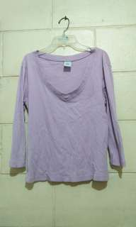 Purple crop top (long sleeves)