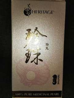 Heritage 100% Pure Medicinal Pearl Powder - 60 Capsules