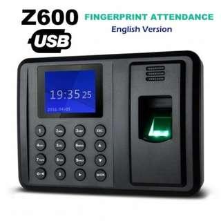 #FREE SHIPPING#Z600 Fingerprint Attendance Punch Card Machine USB Download English