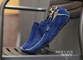 sepatu pria kulit suede kerja santai murah