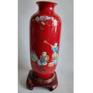50件辣椒紅花瓶