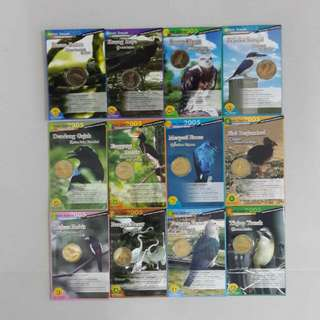 Bird Coin Card Complete Set( 1-12)