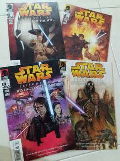 Star Wars revenge of the Sith ep3 1to 4 comics books complete set
