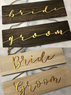 Customizable Wedding Signs