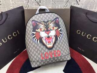 Gucci GG Supreme Angry-Cat Print Backpack
