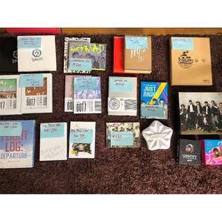 Got7 album and DVD'S