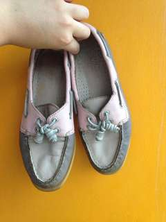 Sperry Top Sider Pink and Nude Boatshoes