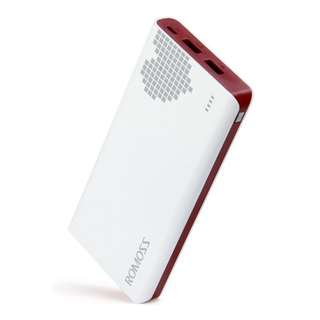 Romoss Pixel Heart Sense 6 20000mAh Power Bank (White/red)