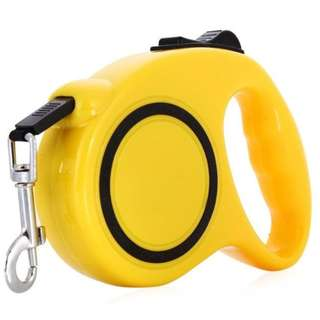 Retractable Dog Leash Yellow