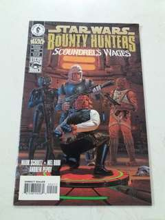 Star wars bounty hunter (scoundrels wages)  comics book
