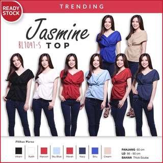 Jasmine tied top blous ikat BL1041-s