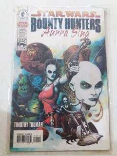 Star wars bounty hunter (Aurra sing)  comics book