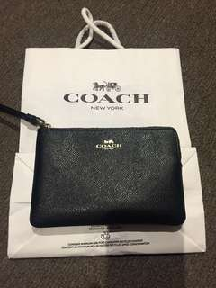 NEW! Coach leather wristlet