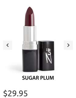 Zuii Organic lipstick in shade sugar plum