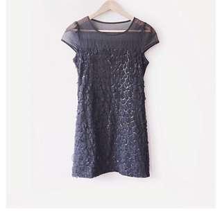 Classy Black Sequined Dress