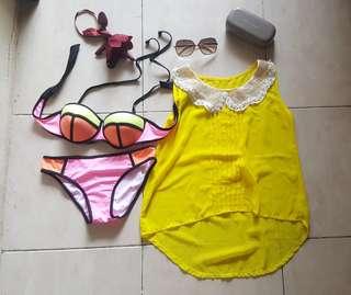 Bikini triangle and outer