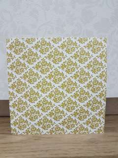 "Pop Artz 6x6"" Scrapbooking Paper (Vintage Green Diamonds)"