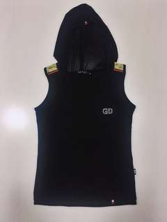 Gucci hooded sleeveless