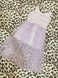 Purple mesh dress by Modern Princess