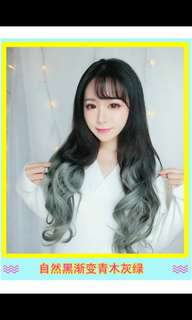 Preorder two tone ombre gradient dip dye U shape clip on wig*waiting time 15 days after payment is made *pm to order