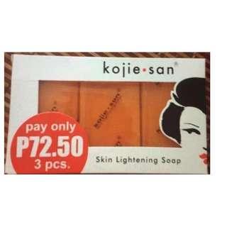 Kojie san 3pcs skin lightening soap