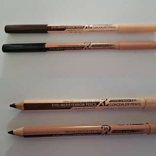 HARI RAYA SALE! Menow(M.N) 2in1 Eyebrow Pencil