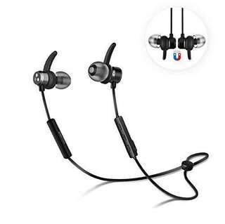Syllable Wireless Bluetooth 4.2 Magnetic Stereo Earbuds