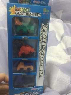 Eraser for boys: cars /per pack