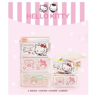 SANRIO MULTI PURPOSE HOLDER*ARCYLIC*STATIONERY*HOUSEHOLD*FANCY*BOX*STORAGE*CUTE*HELLO  KITTY*MY MELODY*LITTLE TWIN STAR*ORIGINAL