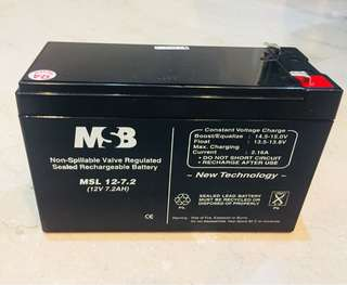 Recharge sealed Battery MSL 12.7.2