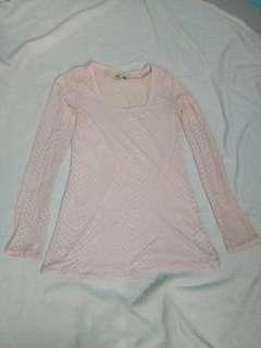 Kaos atasan pink leopard