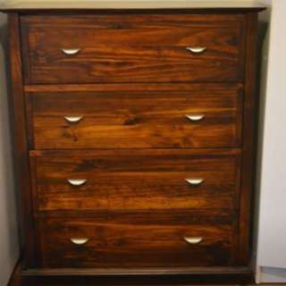 Dark Timber Chest of Drawers Tallboy Dresser
