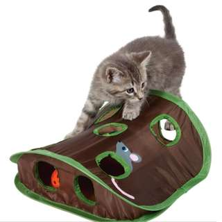 【READY STOCK】9 Mouse Hole and Bell Catch Ball Funny Cat Toy with Cat Mint House
