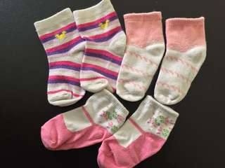 Baby Girl Socks 3-6m
