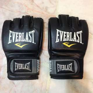 L/XL Everlast MMA Boxing Grappling Gloves Punching Wrestling