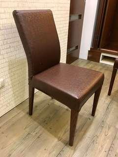 皮質餐桌椅 椅子