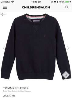 CHILDREN'S TOMMY HILFIGER SWEATER AUTHENTIC RRP $77.06