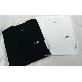 Vans Small Logo T-shirt 小標 基本短Tee 素T 小LOGO 黑色 白色 素面 短袖 白 短T