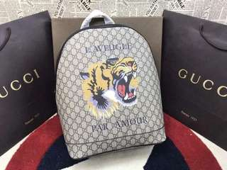 Gucci GG Supreme Embroidered Tiger Backpack