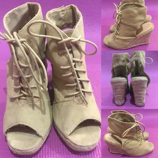 Shoelace Wedge Shoes